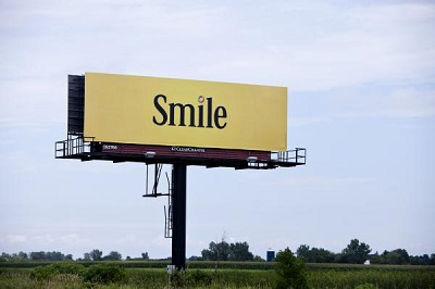 smile billboard