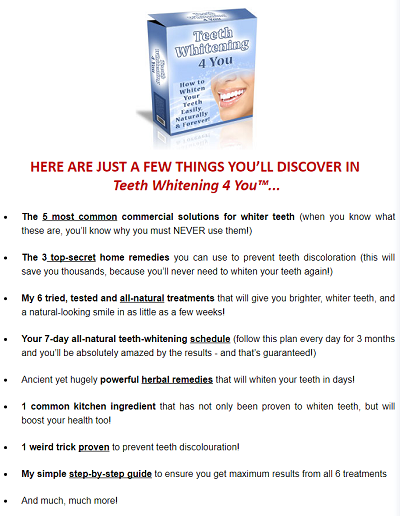 what is included with teeth whitening 4 you