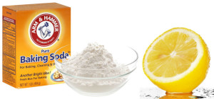 lemon juice and baking soda