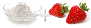 baking soda and strawberries